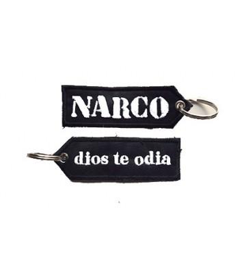 "Narco ""dios te odia"" Key chain"